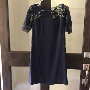 Navy lace summer dress